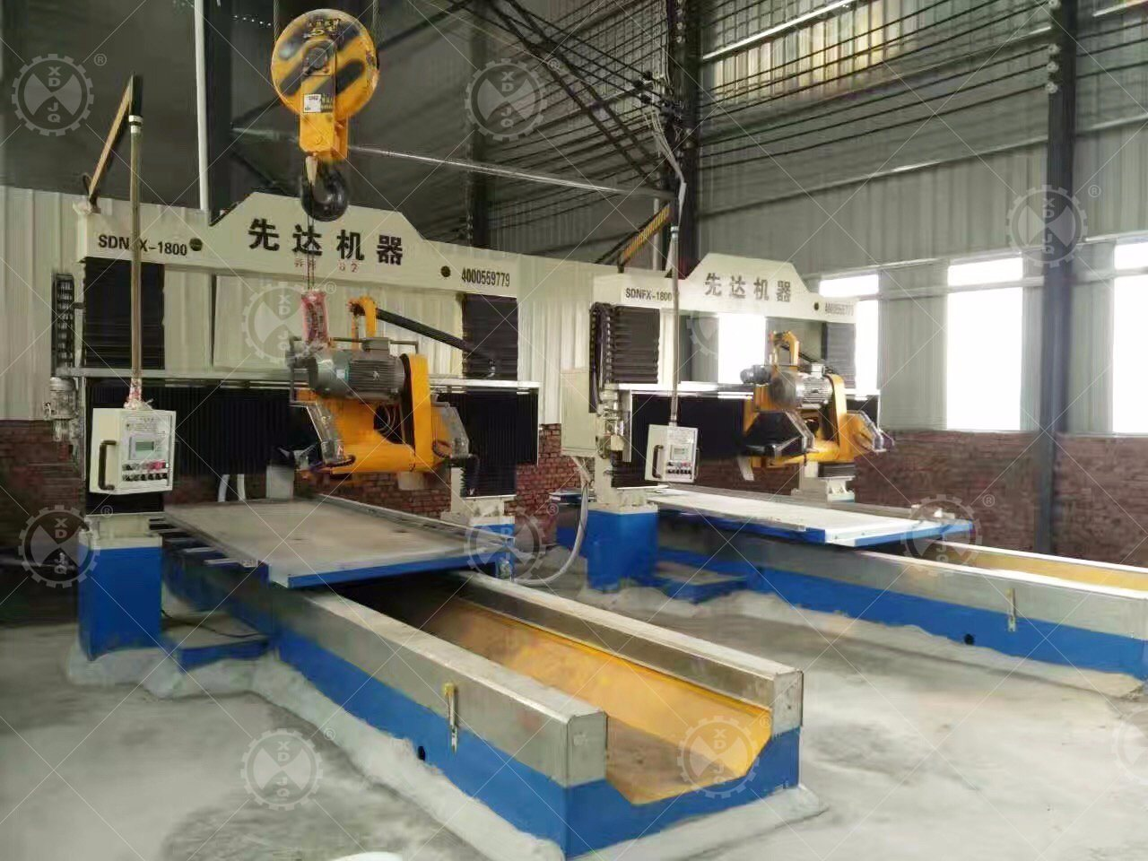 Scnfx-1800 CNC Automatic Gantry Stone Profiling Cutting Machine