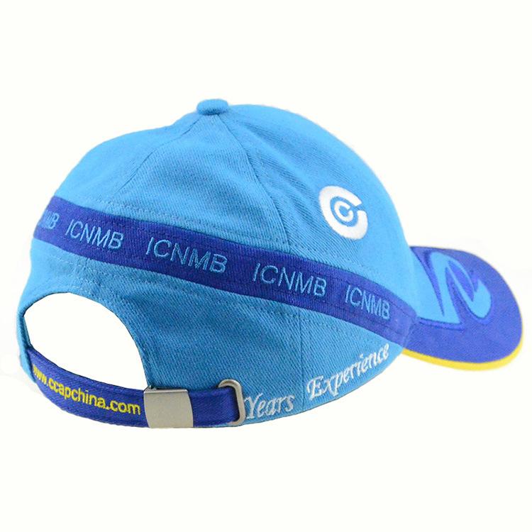 Running Hat Blue 6 Panels Cotton Baseball Cap Racing Caps
