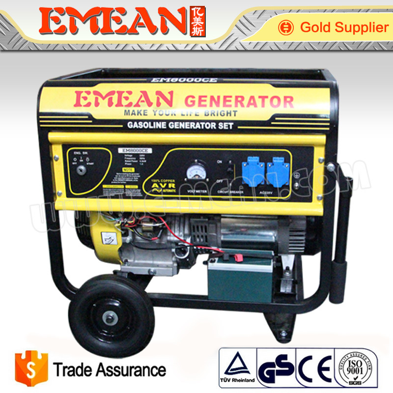 2.5kVA-7.5kVA Electric Power Gasoline Generator Set