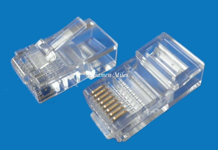 High Quality Cat5e CAT6 Cat7 RJ45 Connector for Stranded Solid Network Cable 8p8c Gold Plated RJ45 Plug with UTP