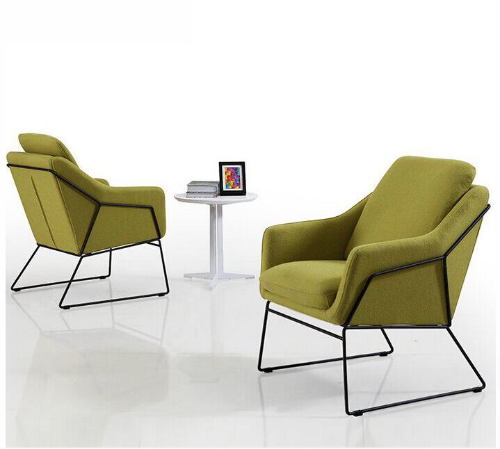 Modern Steel Metal Base Fabric Upholstery Leisure Chair (HX-5CH071)