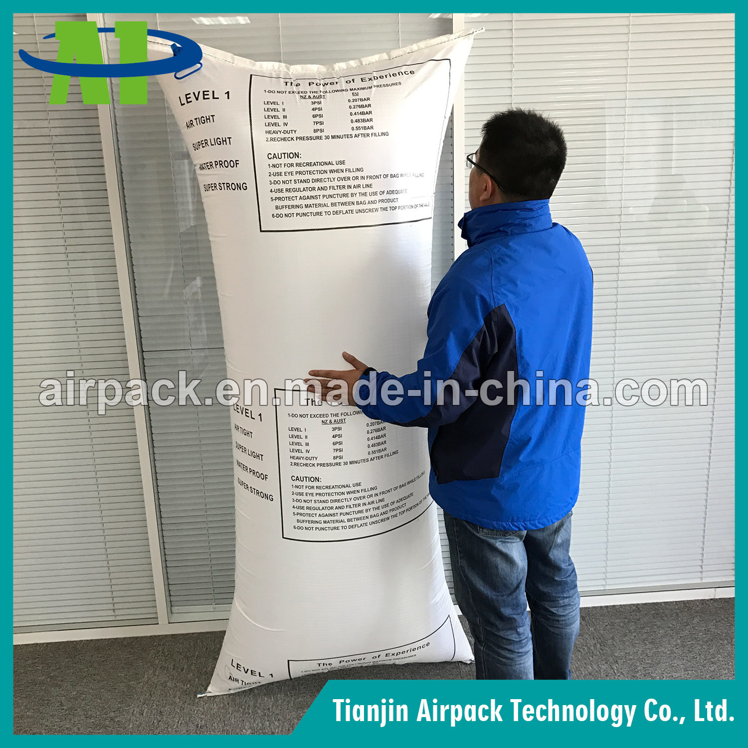 White PP Woven Dunnage Air Bags for Container