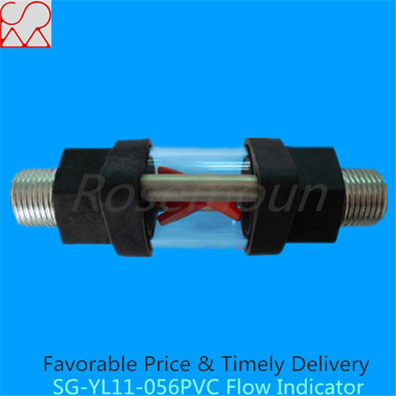 Threaded Plastic and PVC Water Flow Indicator with Rotating Impeller