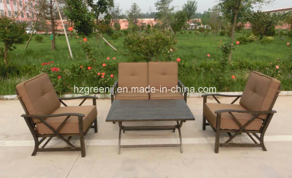 Aluminium Power Coating 4 Pieces Swing Sofa Set Garden Furniture