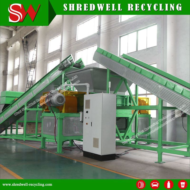 Scrap Tire Recycling Plant for Shredding Used/Waste Tyres to Tdf Rubber Chips