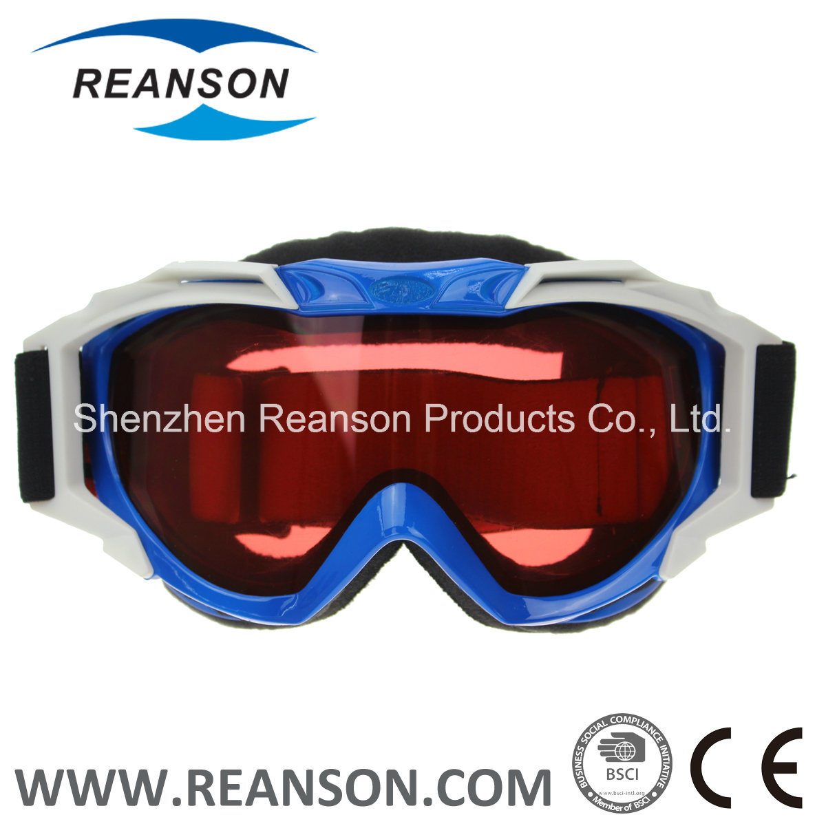 Reanson High Quality Wide View Double Lenses Skiing Goggles