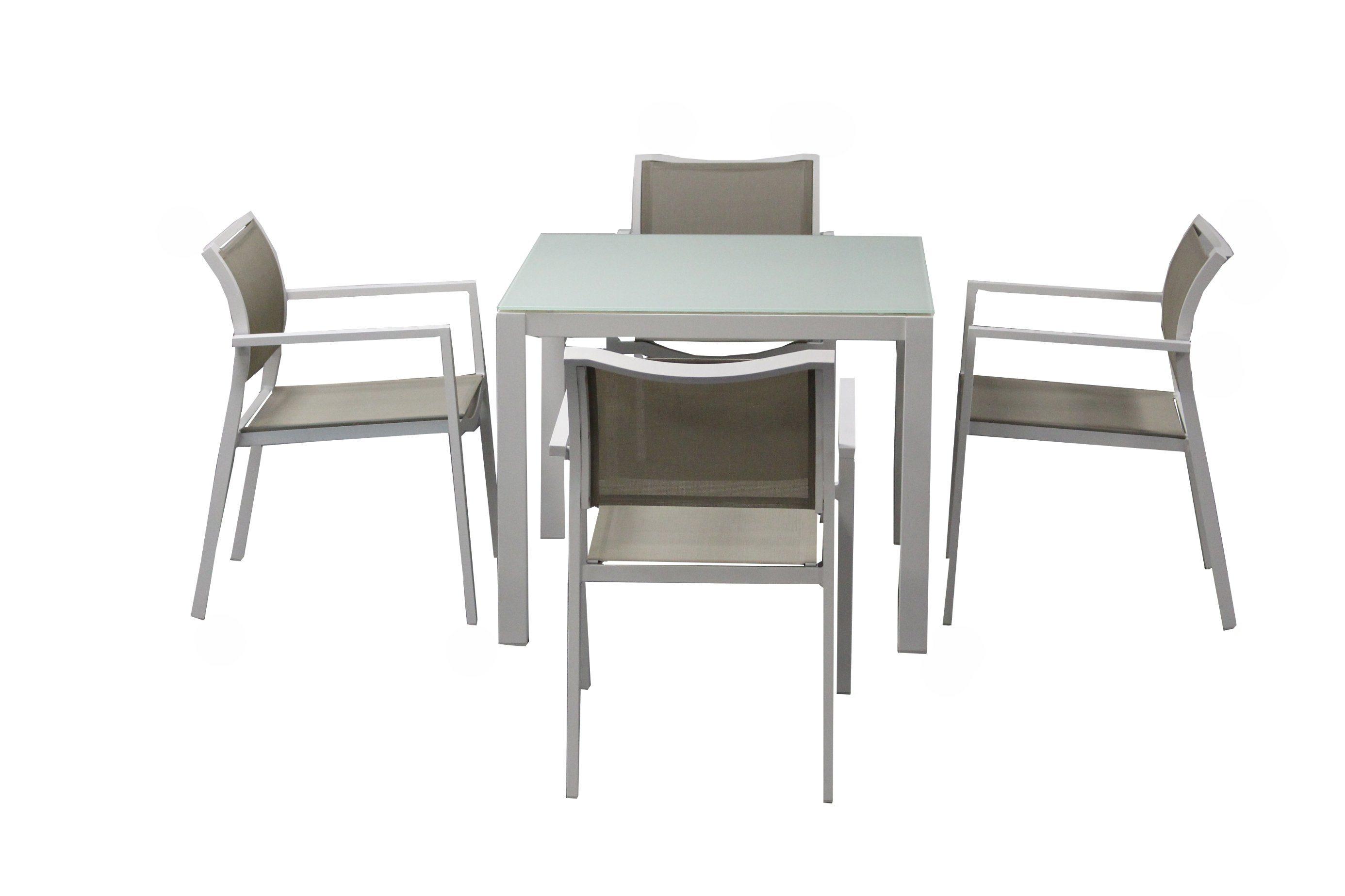 Powder Coating Aluminum Dining Set Textylene Outdoor Dining Set Batyline Chair