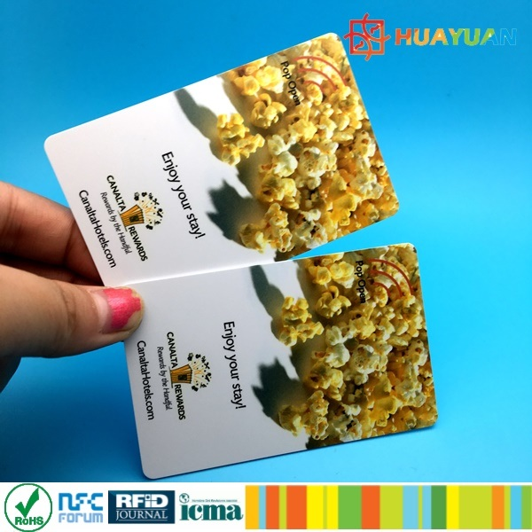 Custom plastic 13.56MHz ISO14443A FUDAN FM08 RFID cruise hotel card
