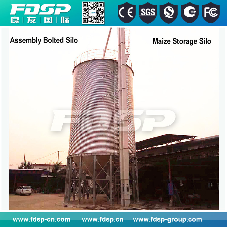 Hot Sale Galvanized Steel Silo Tank for Pellets Feed Storage