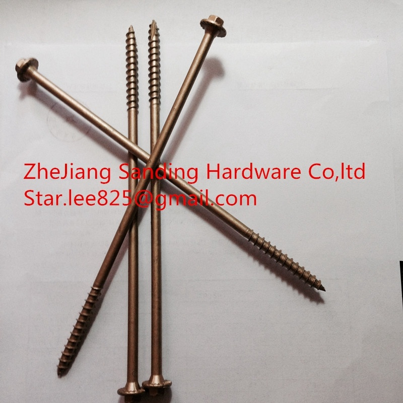 Yellow Zinc Plated 1000 Hours No Red Rust Hex Head Flange Milling Tail Tapping Screws