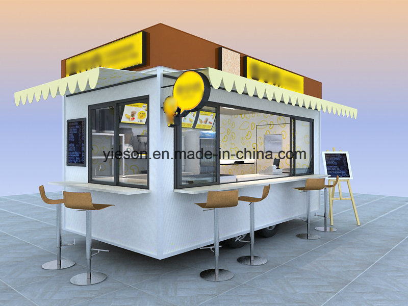 Yieson Used Mobile Food Trucks for Sale in China with Ce