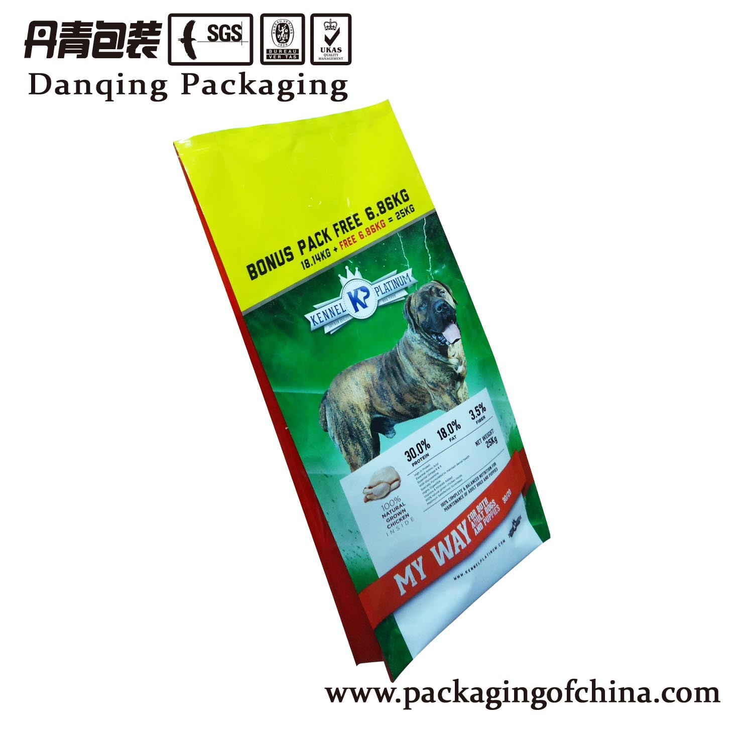 Plastic Packaging Flexible Plastic Dog Food Pouch