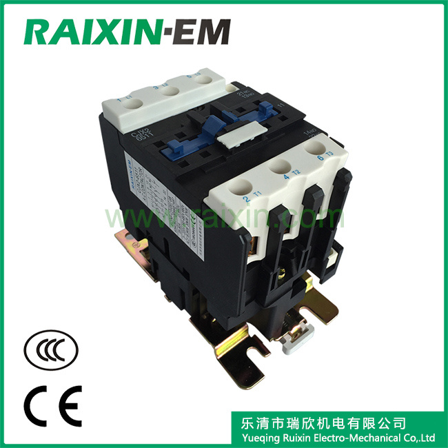 Raixin Cjx2-6511 AC Contactor 3p AC-3 380V 30kw Magnetic Contactor