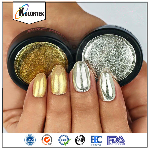 Mirror Chrome Silver Effect Pigment for Nail Polish