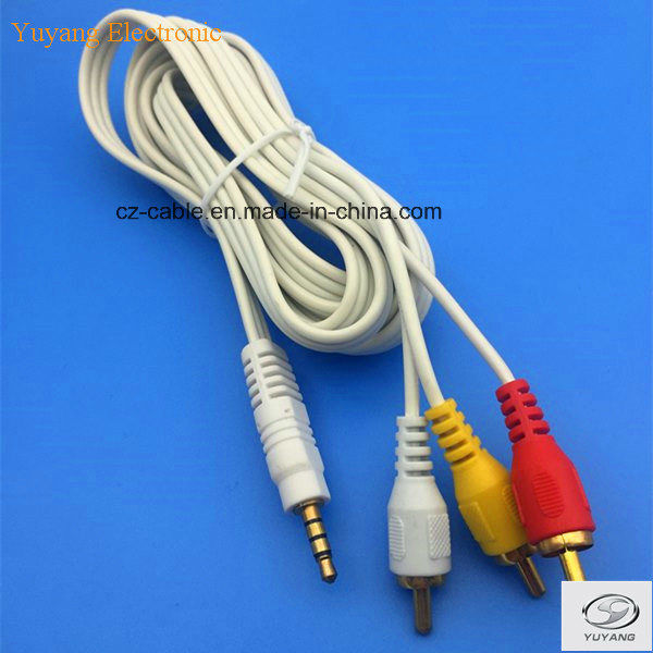 3RCA/3r Plug/Jack to Stereo Plug AV/DVD/TV/Audio/Media Cable (3R-stereo)