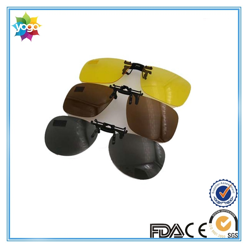 Designer Polarized Mirror Lens Clip on Sunglasses for Optical Glasses