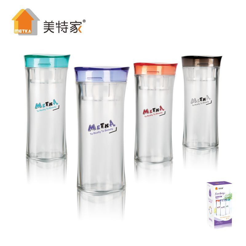 Metka Household High Quality Plastic Crystal Water Cup 380ml