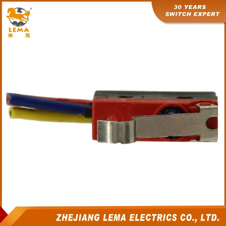 Lema Kw12f-5ex Waterproof IP67 Long Bent Lever Micro Switch