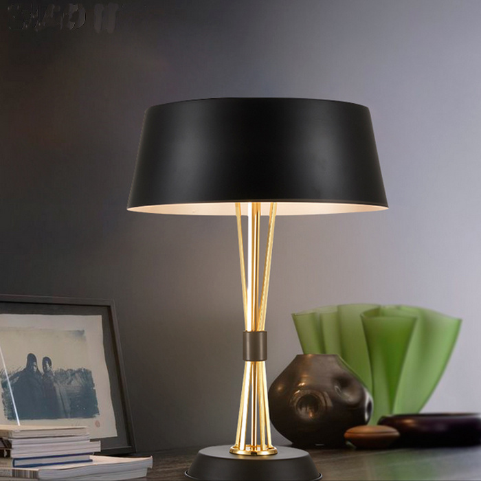 So Wonderful Design Gold & Black Modern Reading Desk Table Light Lamp for Bedside/Bedroom