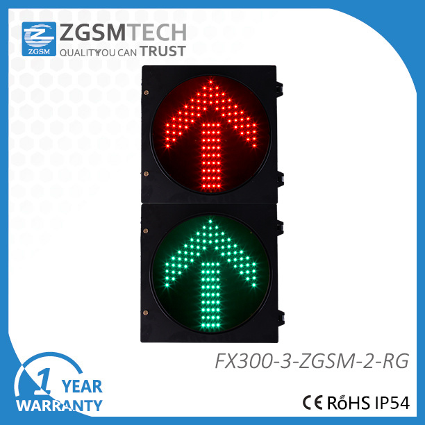 Roadway Diection Traffic Sign Red Green LED Arrow Dia. 300mm 12 Inch