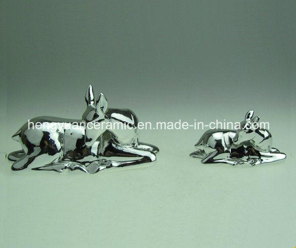 Sika Deer Ceramic Money Bank for Children′s Christmas Gift