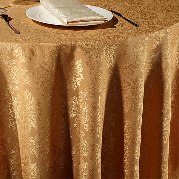 100%Polyester Restaurant Table Cover Jacquard Table Cloth