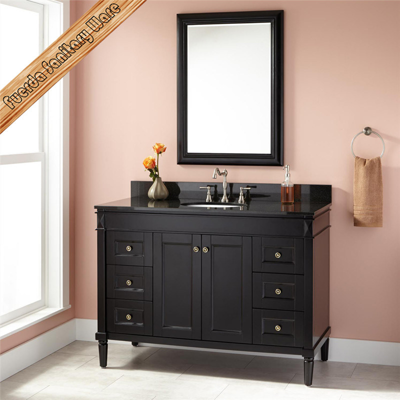 Top Quality Single Modern Hotel Bathroom Vanity, Luxury Bathroom Vanity.