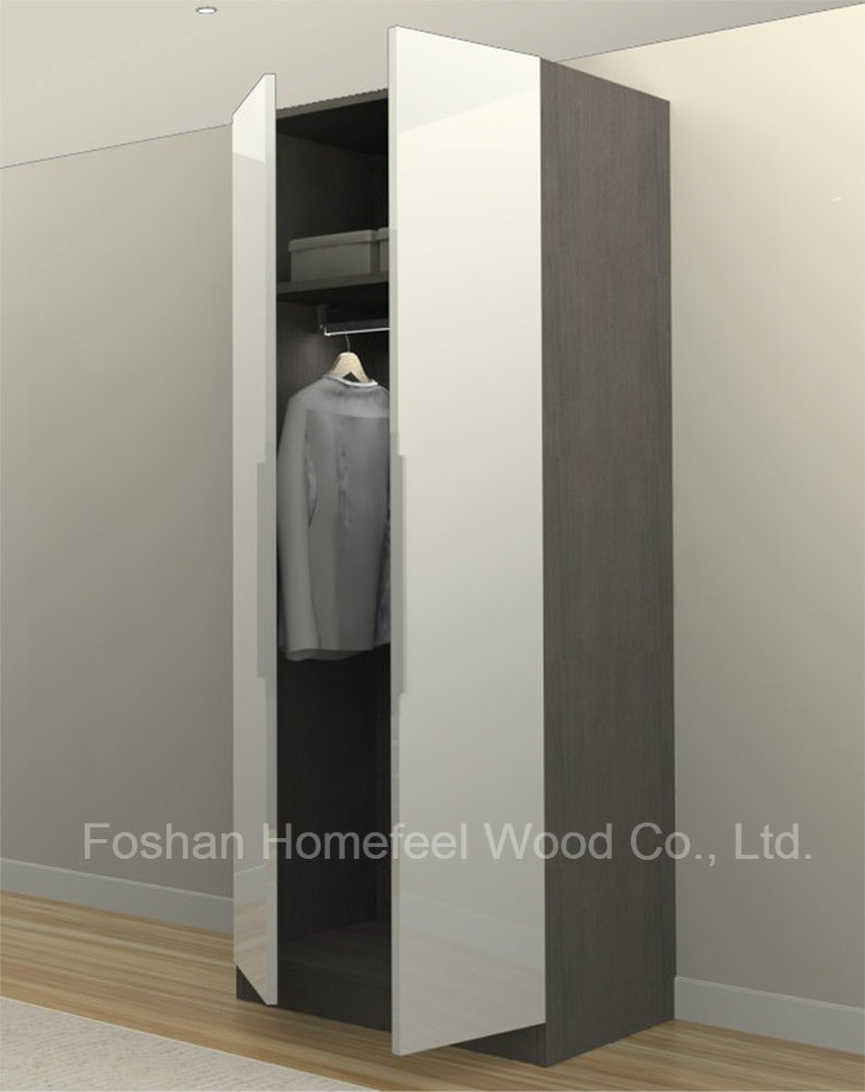 Modern White UV High Gloss Bedroom Wardrobe (HF-H01)