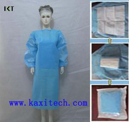 Disposable Non Woven Surgeon Isolation Medical Gown Dressing Supplier Kxt-Sg20