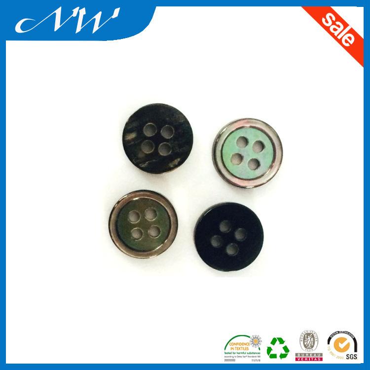 Natural Color 4 Hole Rim M. O. P Shell Button