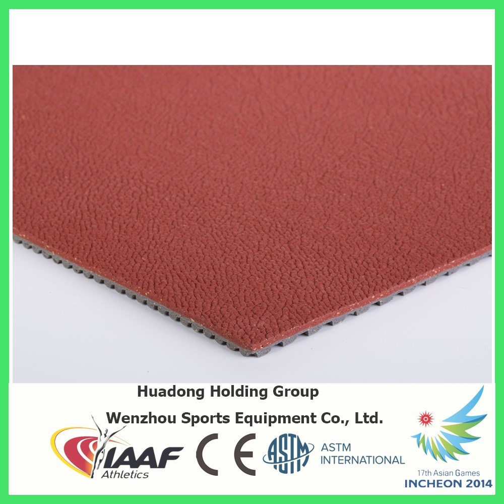 Iaaf Professional Badminton Court Rubber Floor Mat