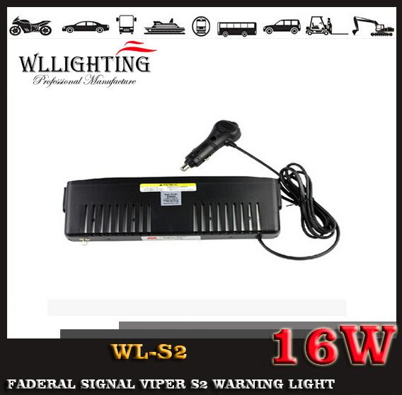Emergency S2 LED Car Windshield Visor Warning Light