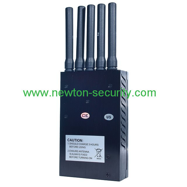 5 Band Portable Cell Phone Jammer, Portable GPS Jammer, Portable WiFi Jammer
