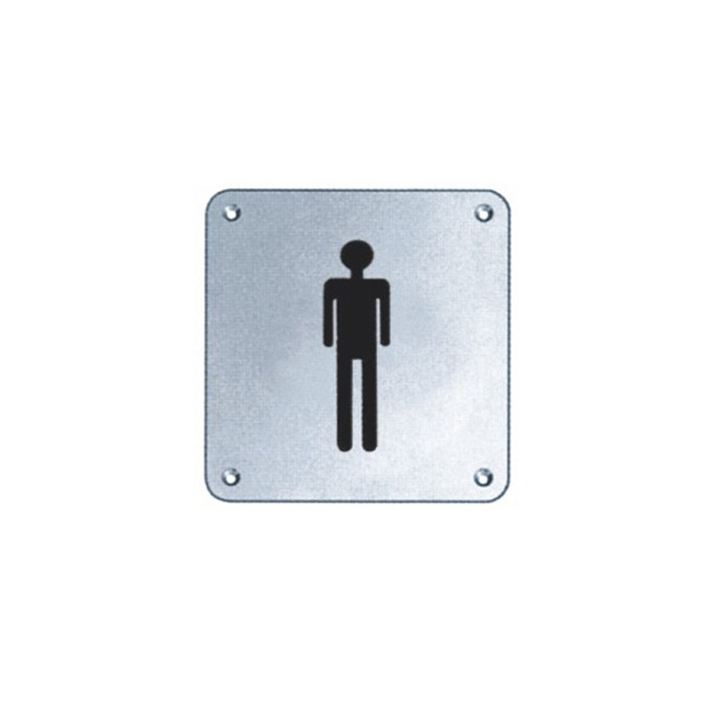 Stainless Steel Hardware Prohibit Caution Sign (J01)