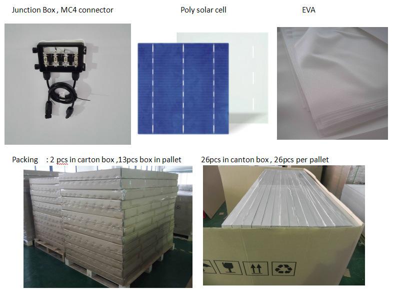 Factory Price Solar System Solar Energy Poly Solar Panel 250W