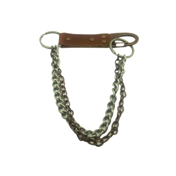 Newest Design Bags Accessory with Chain Metal Ring Leather Buckle