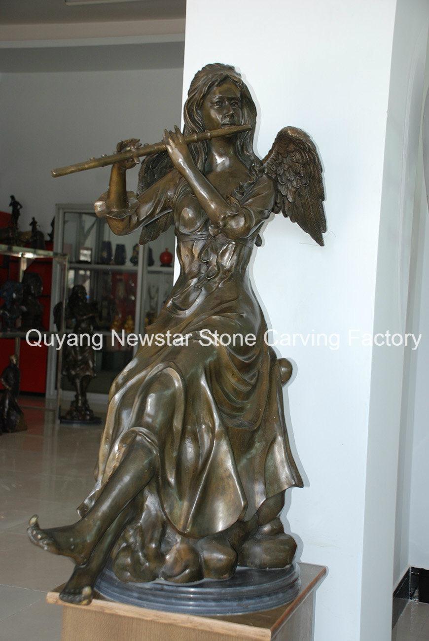Bronze Lady Angel Figurine Statue Sculpture Figure Art Decoration