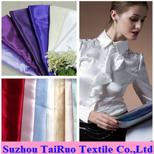Imitated Silk Satin for Lady Shirts Formal Clothes Fabric