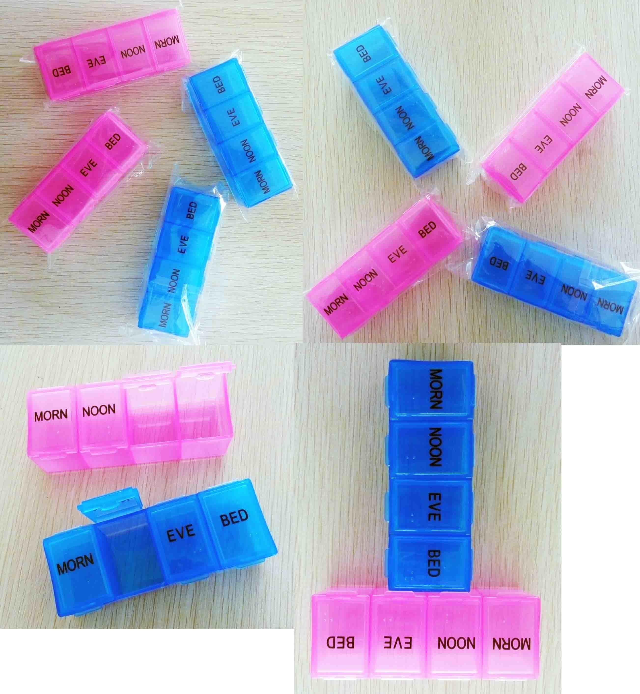 Travel 7 Day Pill Box Plastic Medicine Box Stationery