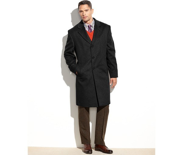 Wholesale OEM Men′s Long Coat in Cashmere