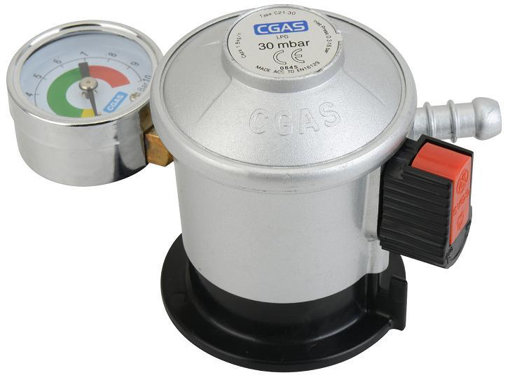 LPG Jumbo Low Pressure Gas Regulator with Meter (C21G56D30)