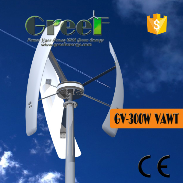 300W Small Vertical Windmill with Coreless Permanent magnet Generator