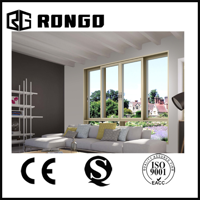 Champagne Gold Color Aluminium Sliding Door for Living Room