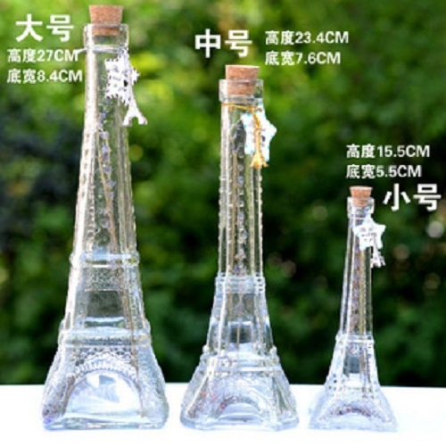 Empty Transparent Glass Bottle Art Craft for Gift