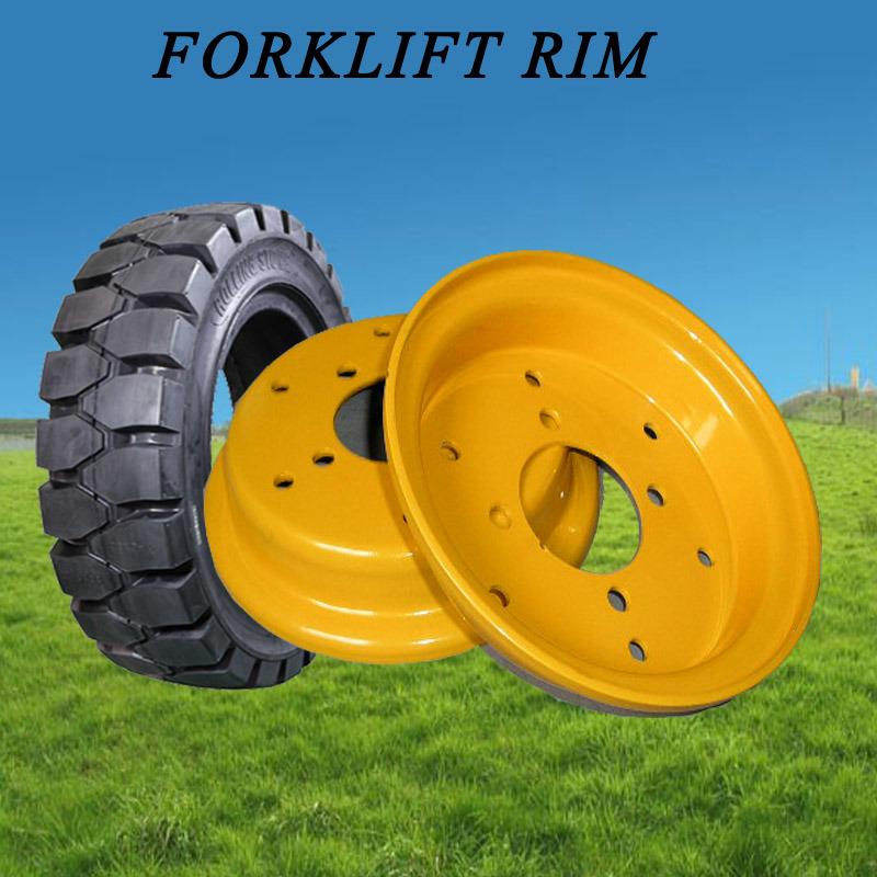 Manufacturer Supply Steel Wheel Rim, Forklift Tyre Rim (4.50E-12, 5.00S-12)
