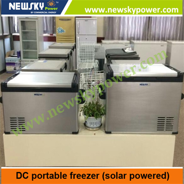 20L 30L 45L 55L 60L 70L 80L 90L DC12V 24V Solar Powered Car Freezer