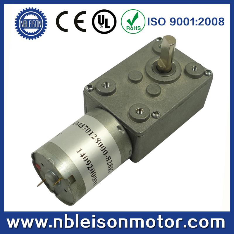 12V 24V DC Micro Worm Gear Motor (WGM370)