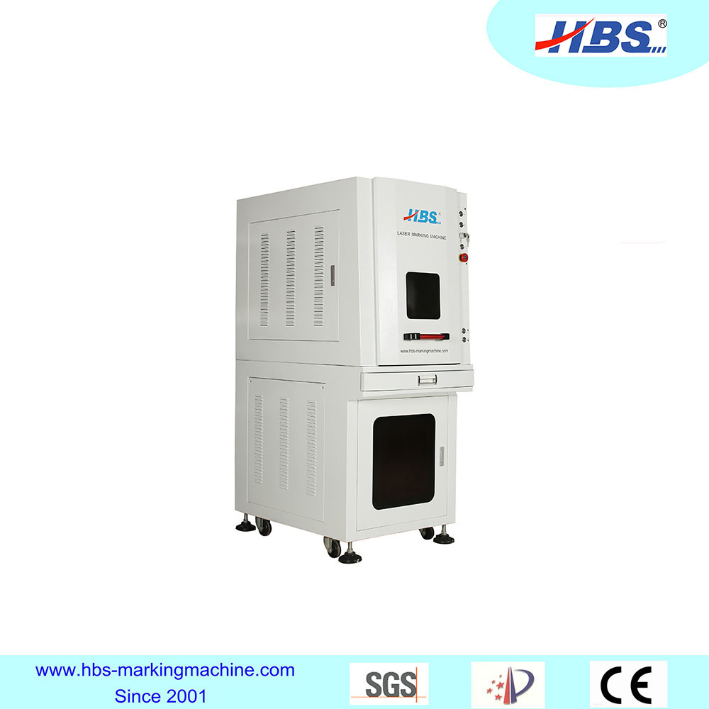 Fully Enclosed 20W Fiber Laser Marking Machine for All Kinds of Metal Marking
