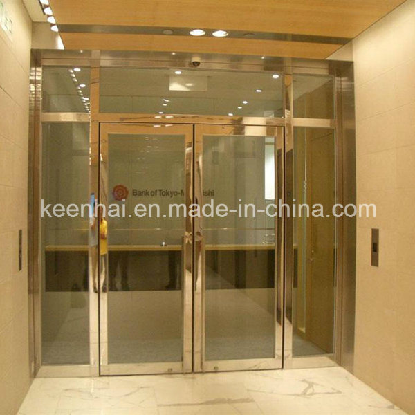 Golden Luxury Exterior Metal Stainless Steel Swing Security Glass Entry Door