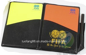 Sports Games Referee Card with Yellow and Red